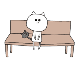 Reticent cat sticker #6813700