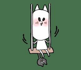 Reticent cat sticker #6813701