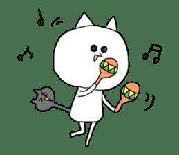 Reticent cat sticker #6813708