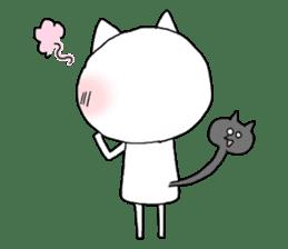 Reticent cat sticker #6813709