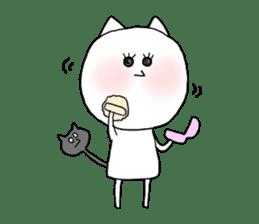 Reticent cat sticker #6813711