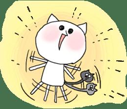 Reticent cat sticker #6813717