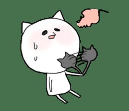 Reticent cat sticker #6813719