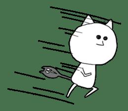 Reticent cat sticker #6813721