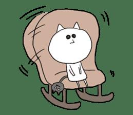 Reticent cat sticker #6813723