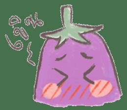 purple eggplant TH sticker #6819626