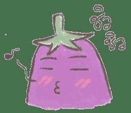 purple eggplant TH sticker #6819627