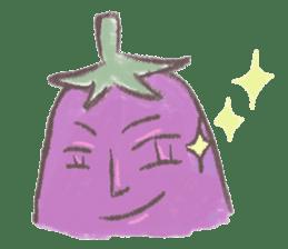 purple eggplant TH sticker #6819629