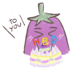 purple eggplant TH sticker #6819638