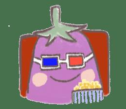 purple eggplant TH sticker #6819641