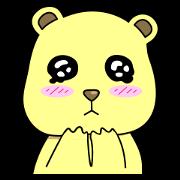 สติ๊กเกอร์ไลน์ แท็ดดี้ หมีสีเหลือง - อังกฤษ