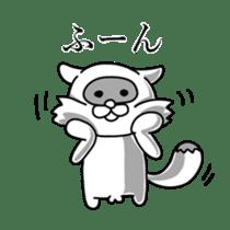 Raccoon and fox sticker #6833609