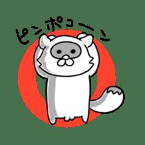 Raccoon and fox sticker #6833621