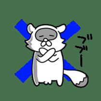 Raccoon and fox sticker #6833623