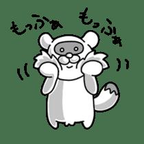 Raccoon and fox sticker #6833628