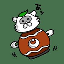 Raccoon and fox sticker #6833630