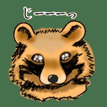 Raccoon and fox sticker #6833632