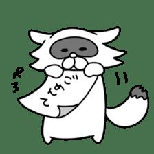 Raccoon and fox sticker #6833637