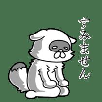 Raccoon and fox sticker #6833639
