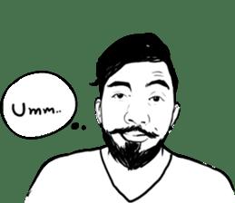 """ Beard Boy "" sticker #6843949"