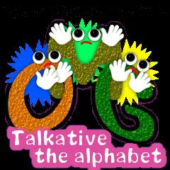 Talkative the alphabet