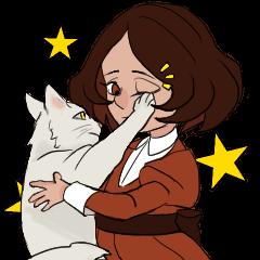 Mattie And Her Cat Arthur
