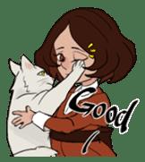 Mattie And Her Cat Arthur sticker #6863033