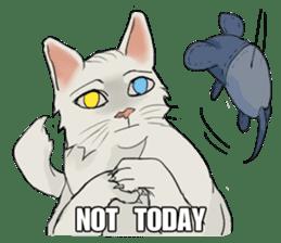 Mattie And Her Cat Arthur sticker #6863038