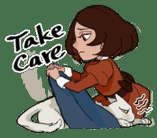 Mattie And Her Cat Arthur sticker #6863054