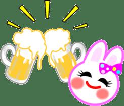 Happy word of rabbit sticker #6863310