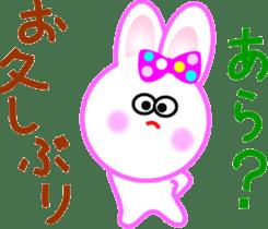 Happy word of rabbit sticker #6863311