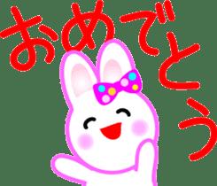 Happy word of rabbit sticker #6863313