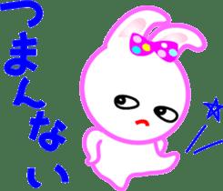 Happy word of rabbit sticker #6863316