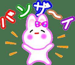 Happy word of rabbit sticker #6863318