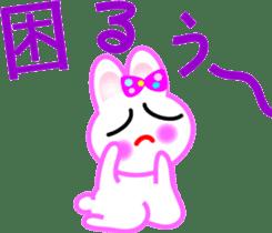 Happy word of rabbit sticker #6863319