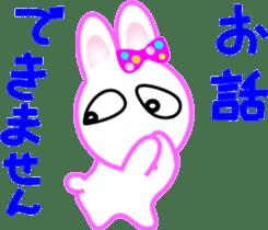 Happy word of rabbit sticker #6863330