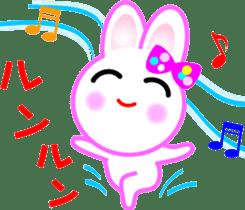 Happy word of rabbit sticker #6863332
