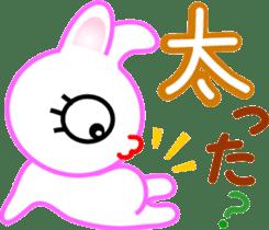 Happy word of rabbit sticker #6863339