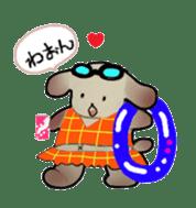 Mr. cat, a stamp and Mr. dog, stamp sticker #6865388
