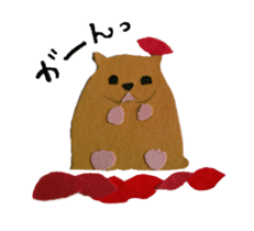 Mr. cat, a stamp and Mr. dog, stamp sticker #6865392