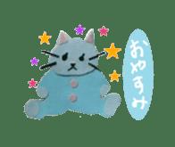 Mr. cat, a stamp and Mr. dog, stamp sticker #6865399