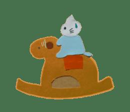 Mr. cat, a stamp and Mr. dog, stamp sticker #6865400