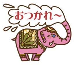 Ethnic Elephant and the sun. sticker #6865464