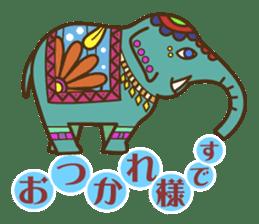 Ethnic Elephant and the sun. sticker #6865465