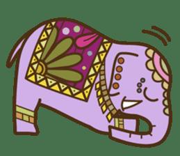 Ethnic Elephant and the sun. sticker #6865466