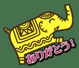 Ethnic Elephant and the sun. sticker #6865473