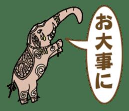 Ethnic Elephant and the sun. sticker #6865476