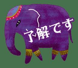 Ethnic Elephant and the sun. sticker #6865477