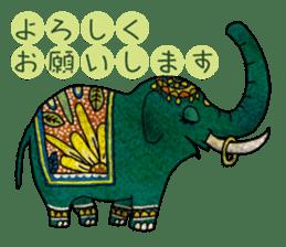 Ethnic Elephant and the sun. sticker #6865478