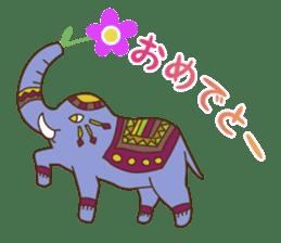 Ethnic Elephant and the sun. sticker #6865482